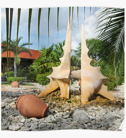 Sculpture Fountain Poster