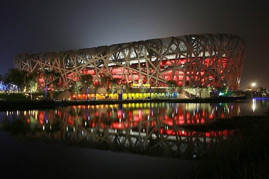 Beijing Olympic Stadium (Birds Nest) by Barry  Dux