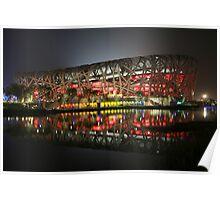 Beijing Olympic Stadium (Birds Nest) Poster
