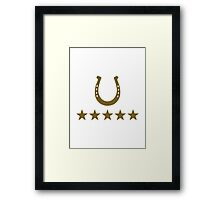 Horseshoe five stars riding Framed Print