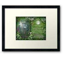 July : Oak Moon Framed Print