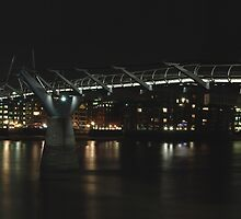 st pauls and the millenium bridge by jon  daly