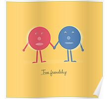 Friendship concept with cartoon character doodles Poster