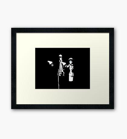 Psycho-Pass Pulp Fiction Crossover Framed Print