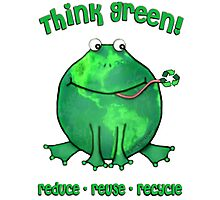 Think Green Frog For The Environment Photographic Print