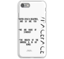 Spaceface Slogan - Spaceface Collection iPhone Case/Skin