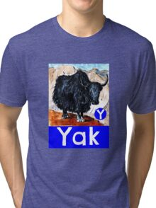Y is for Yak Tri-blend T-Shirt