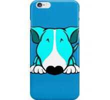 Aqua and White Bull Terrier iPhone Case/Skin