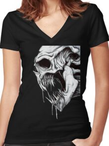 Grim Reaper Women's Fitted V-Neck T-Shirt