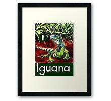 I is for Iguana Framed Print