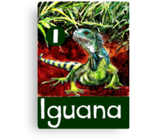 I is for Iguana Canvas Print