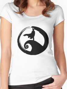 Nightmare before KID (only logo) Women's Fitted Scoop T-Shirt