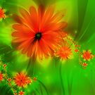 Fractal Flowers No. 003 by Jo Newman