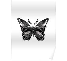 BW Butterfly Poster