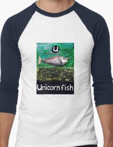 U is for Unicorn fish Men's Baseball ¾ T-Shirt