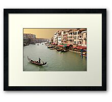 Grand canal Venice at sunset Framed Print