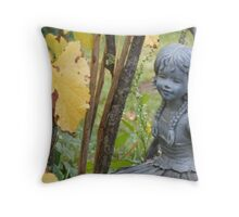 Red Berry Fairy Throw Pillow