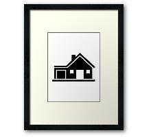 House villa garage Framed Print