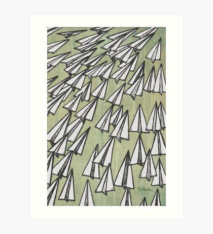 Paper Airplane 88 Art Print