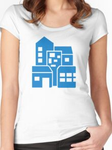 Blue buildings Women's Fitted Scoop T-Shirt