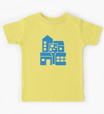 Blue buildings Kids Tee
