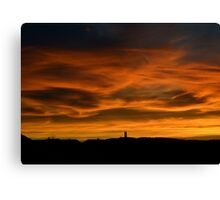 Sunset over Scrabo Canvas Print