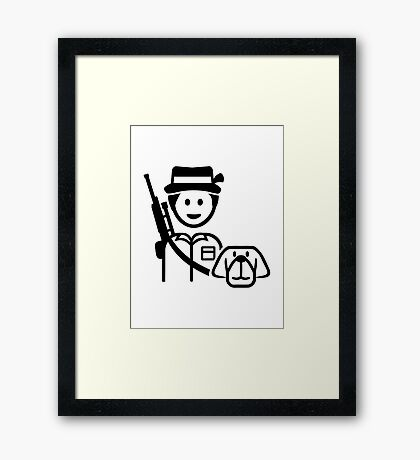 Hunter dog icon Framed Print