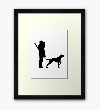 Hunter dog Framed Print