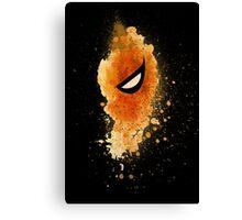 Deathstroke Mask Splash Canvas Print