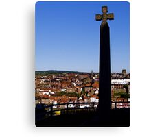 """Cross over Whitby"" Canvas Print"