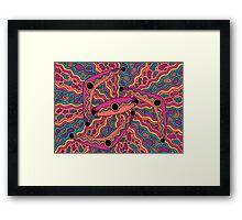 Irrgil/Marrga - (boomerang & shield) jalalay season (spring)  Framed Print