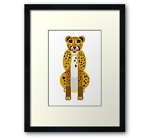 Digital Leopard Illustration Framed Print