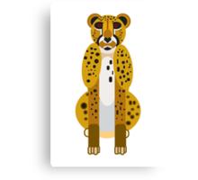 Digital Leopard Illustration Canvas Print