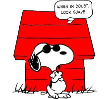 Snoopy Cool Photographic Print