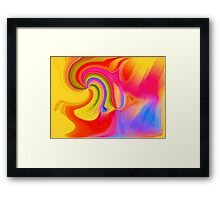Rainbow Colours-Available As Art Prints-Mugs,Cases,Duvets,T Shirts,Stickers,etc Framed Print