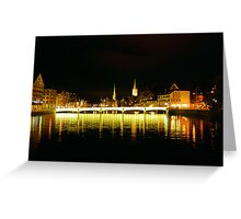Zurich by night Greeting Card