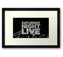 Saturday Night Live Shirt Framed Print