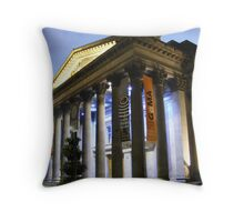 Glasgow's Gallery of Modern Art at night Throw Pillow