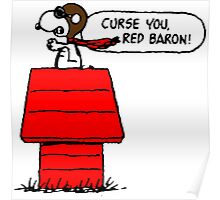 Snoopy vs Red Baron Poster