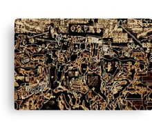 SUPER BOWL 2015, after the game, monochromatic abstract, flipped photo Canvas Print