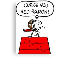 Red Baron Snoopy Canvas Print