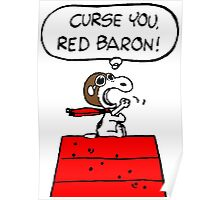 Red Baron Snoopy Poster