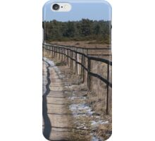 Way with fence iPhone Case/Skin