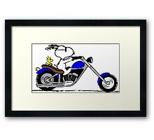 Snoopy on the road Framed Print