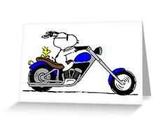 Snoopy on the road Greeting Card