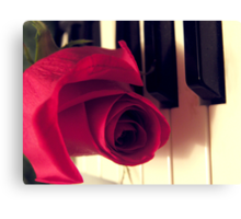 The Music Rose Canvas Print
