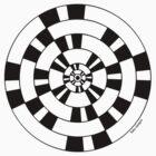 Mandala 40 Back In Black by sekodesigns