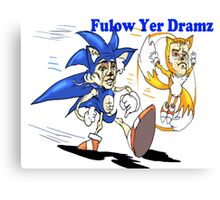 Sonic and Tails Follow Your Dreams Canvas Print