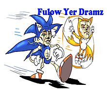 Sonic and Tails Follow Your Dreams Photographic Print