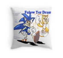 Sonic and Tails Follow Your Dreams Throw Pillow